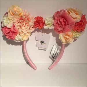 Disney Mickey Mouse Floral Ears Headband Pink